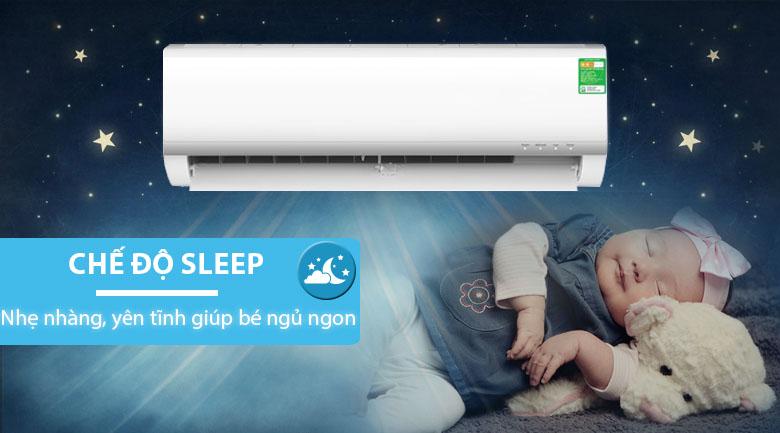 Chế độ ngủ đêm - Điều hòa Midea Inverter 13000 BTU MSAF-13CRDN8