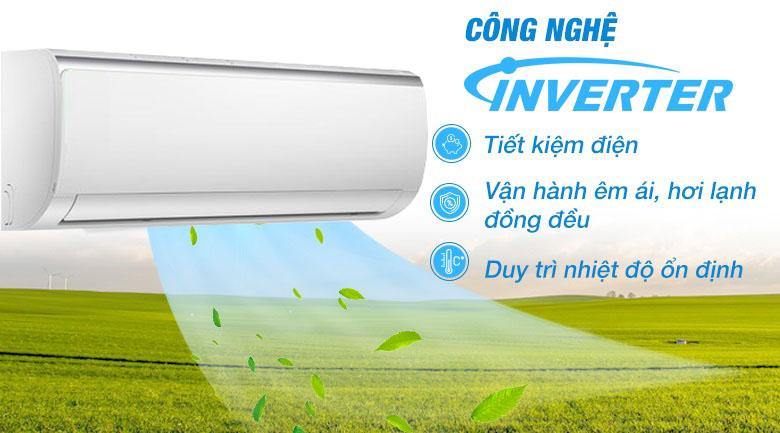 Inverter Quattro - Máy lạnh Midea Inverter 1 HP MSFR-10CRDN8