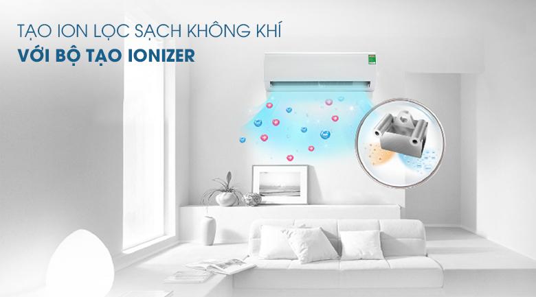 Tạo ion lọc sạch không khí với bộ tạo Ionizer - Máy lạnh Midea Inverter 1 HP MSFR-10CRDN8 Mẫu 2019