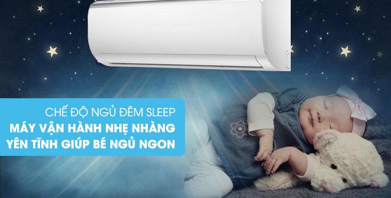Chế độ ngủ đêm - Máy lạnh Midea Inverter 1.5 HP MSFR-13CRDN8