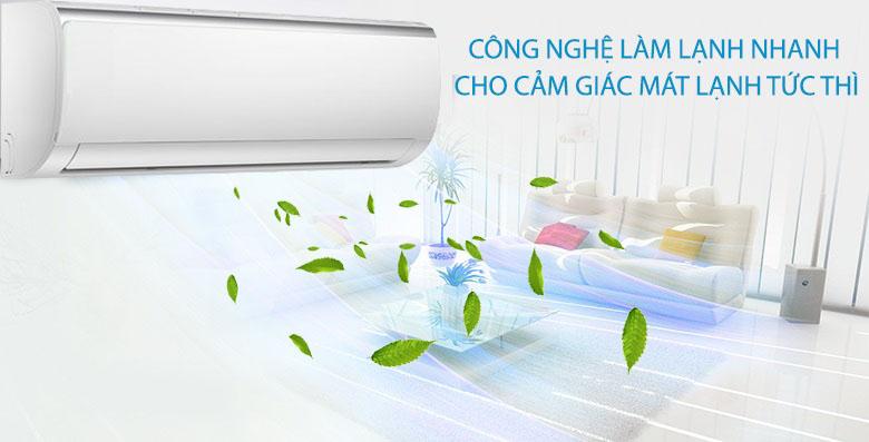 Làm lạnh nhanh - Máy lạnh Midea Inverter 1.5 HP MSFR-13CRDN8