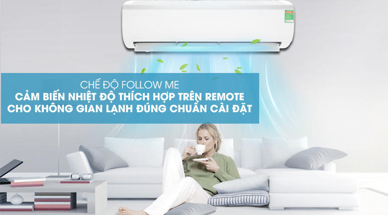Follow me - Máy lạnh Midea Inverter 2 HP MSFR-18CRDN8 Mẫu 2019