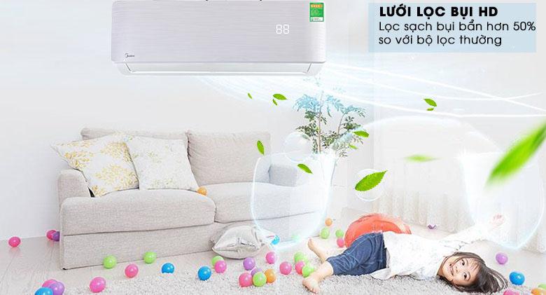 Lọc bụi HD - Máy lạnh Midea Invereter 1 HP MSAB-10CRDN8