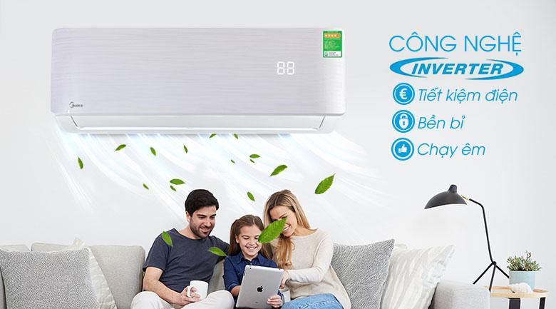 Inverter - Máy lạnh Midea Inverter 1.5 HP MSAB-13CRDN8