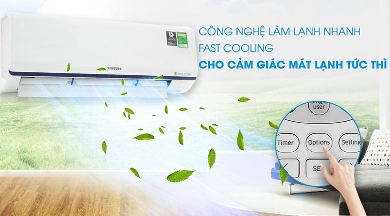 Làm lạnh nhanh - Máy lạnh Samsung Inverter 1 HP AR10RYFTAURNSV