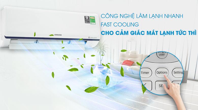 Làm lạnh nhanh - Máy lạnh Samsung Inverter 1.5 HP AR13RYFTAURNSV