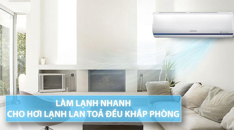 Làm lạnh nhanh - Máy lạnh Samsung Inverter 2 HP AR18RYFTAURNSV