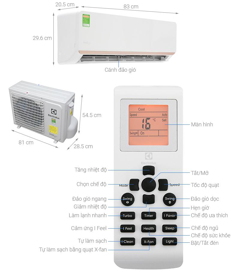 Thông số kỹ thuật Máy lạnh Electrolux Inverter 1.5 HP ESV12CRR-C2