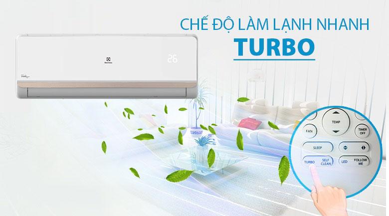 Làm lạnh nhanh Turbo - Máy lạnh Electrolux Inverter 1.5 HP ESV12CRR-C2