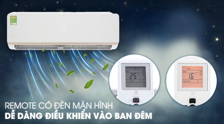 Máy lạnh Electrolux Inverter 1.5 HP ESV12CRR-C2 - Remote có đèn màn hình