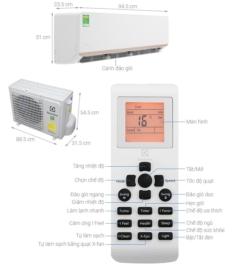Thông số kỹ thuật Máy lạnh Electrolux Inverter 2 HP ESV18CRR-C2
