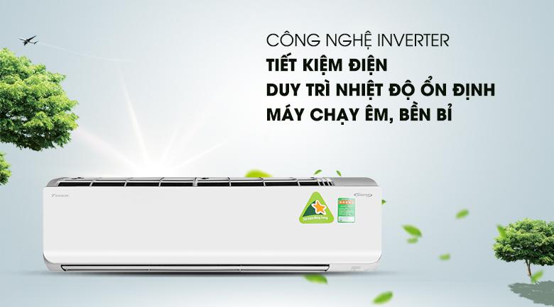Công nghệ Inverter - Máy lạnh 2 chiều Daikin Inverter 2.5 HP FTHF60RVMV