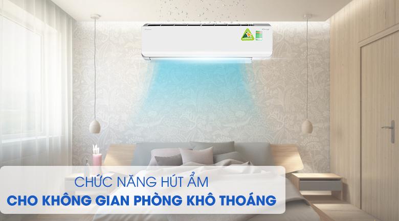 Chế độ hút ẩm giúp phòng luôn khô ráo - Máy lạnh 2 chiều Daikin Inverter 2.5 HP FTHF60RVMV