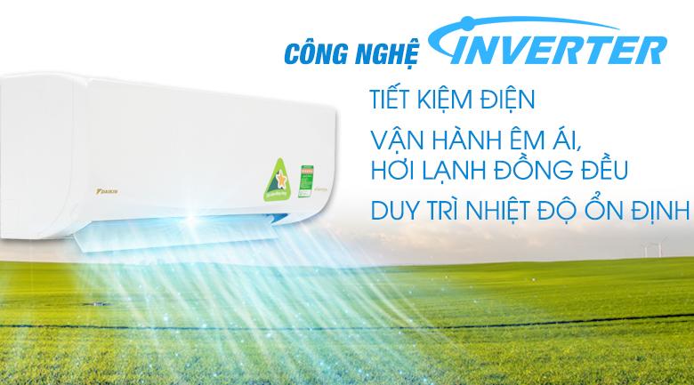 Công nghệ Inverter - Máy lạnh Daikin Inverter 1 HP ATKQ25TAVMV
