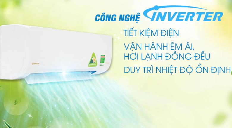 Công nghệ Inverter - Máy lạnh Daikin Inverter 1.5 HP ATKQ35TAVMV