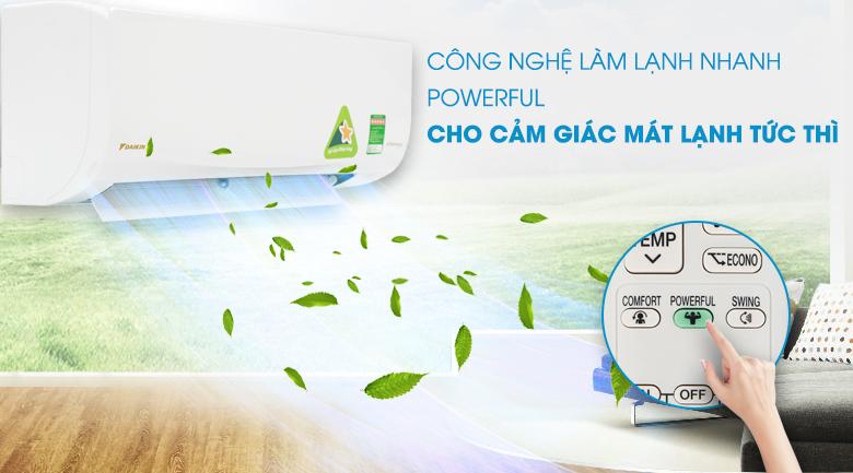 Làm lạnh nhanh - Máy lạnh Daikin Inverter 1.5 HP ATKQ35TAVMV