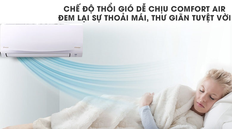 Thổi gió dễ chịu - Máy lạnh Daikin Inverter 1.5 HP ATKQ35TAVMV