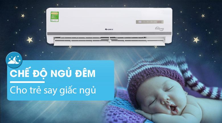 chế độ ngủ đêm - Máy lạnh Gree Inverter 1 HP GWC09WA-K3D9B7I