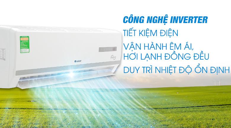 công nghệ Inverter - Máy lạnh Gree Inverter 1.5 HPGWC12WA-K3D9B7I