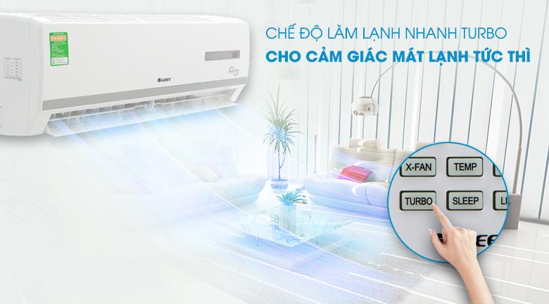 công nghệ làm lạnh nhanh Turbo - Máy lạnh Gree Inverter 1.5 HPGWC12WA-K3D9B7I