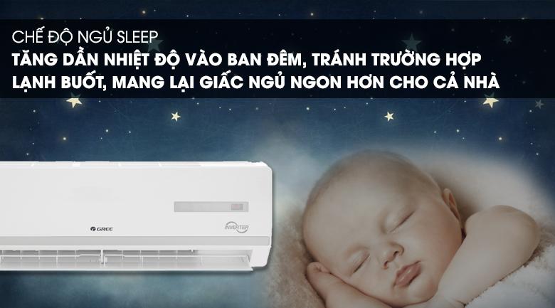 Chế độ ngủ đêm - Máy lạnh Gree Inverter 1.5 HPGWC12WA-K3D9B7I