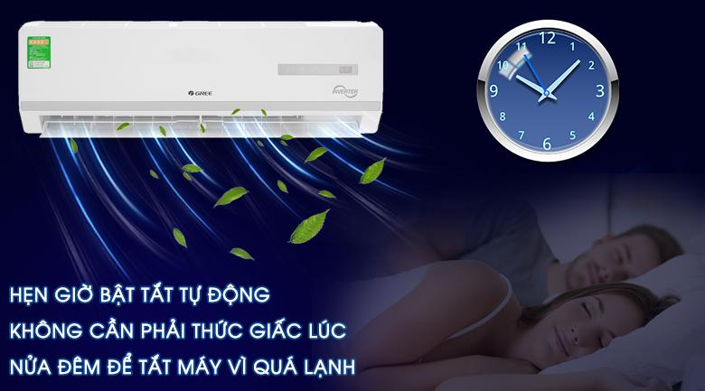 chế độ hẹn giờ bật tắt máy - Máy lạnh Gree Inverter 1.5 HPGWC12WA-K3D9B7I