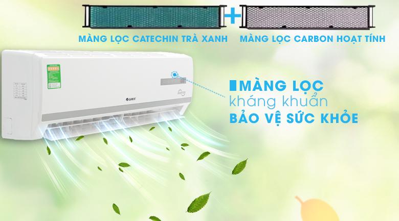 Bộ lọc trà xanh và carbon hoạt tính - Máy lạnh Gree Inverter 1.5 HPGWC12WA-K3D9B7I