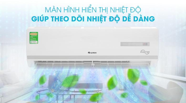 Máy lạnh Gree Inverter 1.5 HP GWC12WA-K3D9B7I - Màn hình LED