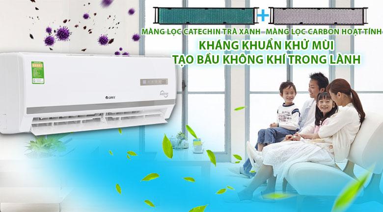 Bộ lọc trà xanh và carbon hoạt tính - Máy lạnh Gree Inverter 1 HP GWC09WA-K3D9B7I