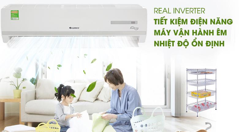 Công nghệ Real Inverter - Máy lạnh Gree Inverter 2 HP GWC18WC-K3D9B7N Mẫu 2019