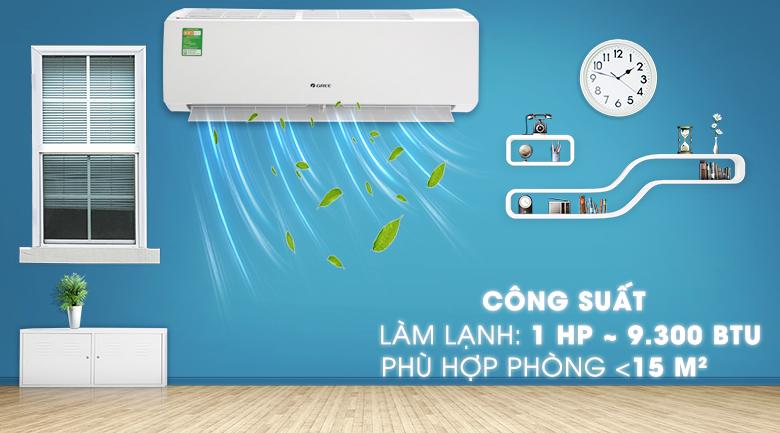 Máy lạnh Gree 1 HP GWC09IB-K3N9B2I - Công suất 1 HP