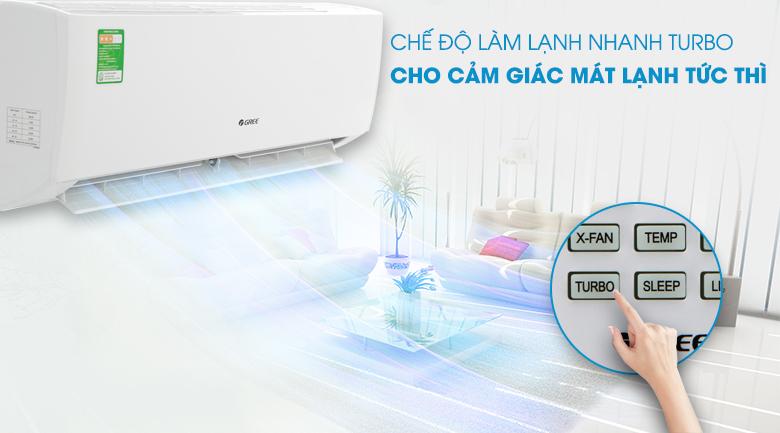 Máy lạnh Gree 1 HP GWC09IB-K3N9B2I - Công nghệ Turbo