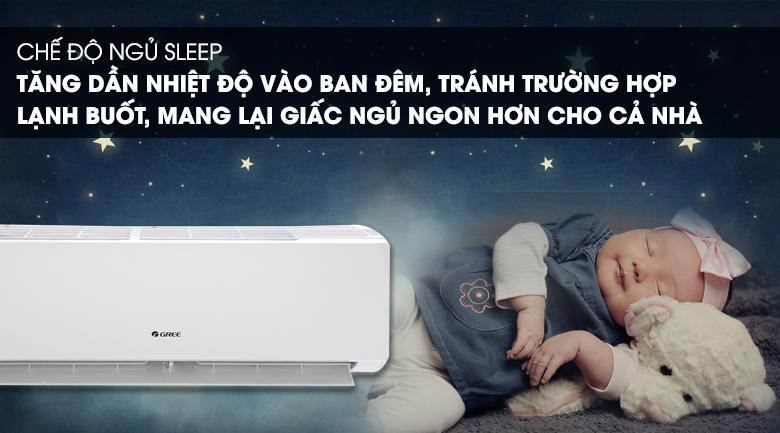 Máy lạnh Gree 1 HP GWC09IB-K3N9B2I - Chế độ ngủ ban đêm