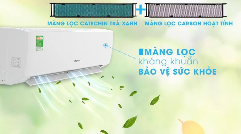Máy lạnh Gree 1 HP GWC09IB-K3N9B2I - Bộ lọc trà xanh Catechin & Carbon hoạt tính