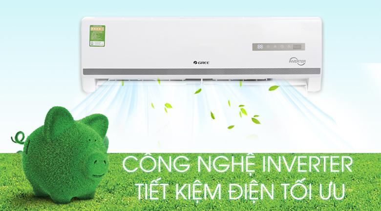 Công nghệ Inverter - Máy điều hòa 2 chiều Gree Inverter 9000 BTU GWH09WA-K3D9B7L