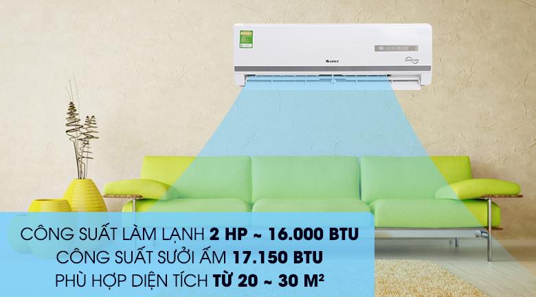 Công suất - Máy điều hòa 2 chiều Gree Inverter 16000 BTU GWH18WC-K3D9B7N