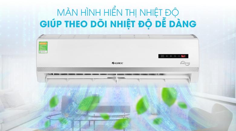 Máy điều hòa 2 chiều Gree Inverter 2 HP GWH18WC-K3D9B7N - Màn hình LED