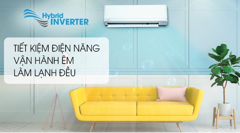 Tiết kiệm điện năng với công nghệ DC Hybrid Inverter - Máy lạnh Toshiba Inverter 1 HP RAS-H10J2KCVRG-V Mẫu 2019