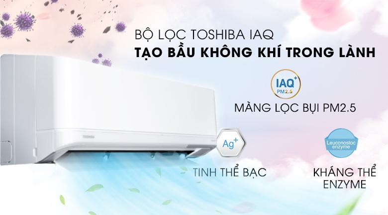 Bộ lọc Toshiba IAQ tạo ra bầu không khí trong lành, sạch khuẩn - Máy lạnh Toshiba Inverter 1 HP RAS-H10J2KCVRG-V Mẫu 2019