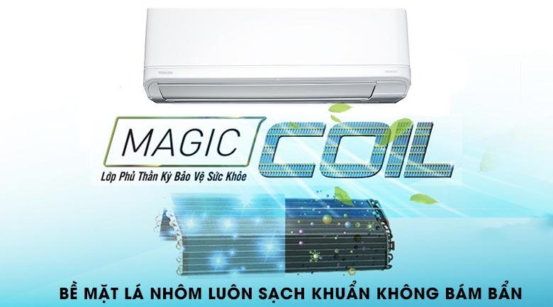 Magic Coil - Máy lạnh Toshiba Inverter 1.5 HP RAS-H13J2KCVRG-V