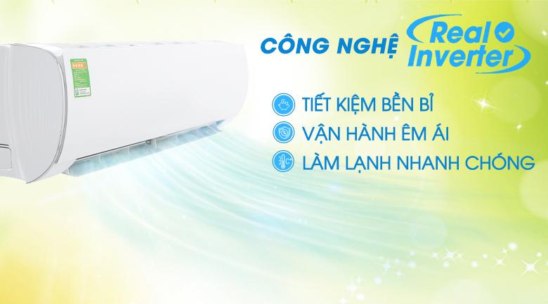 Công nghệ Inverter - Máy lạnh Gree Inverter 1 HP GWC09FB-K6D9A1W