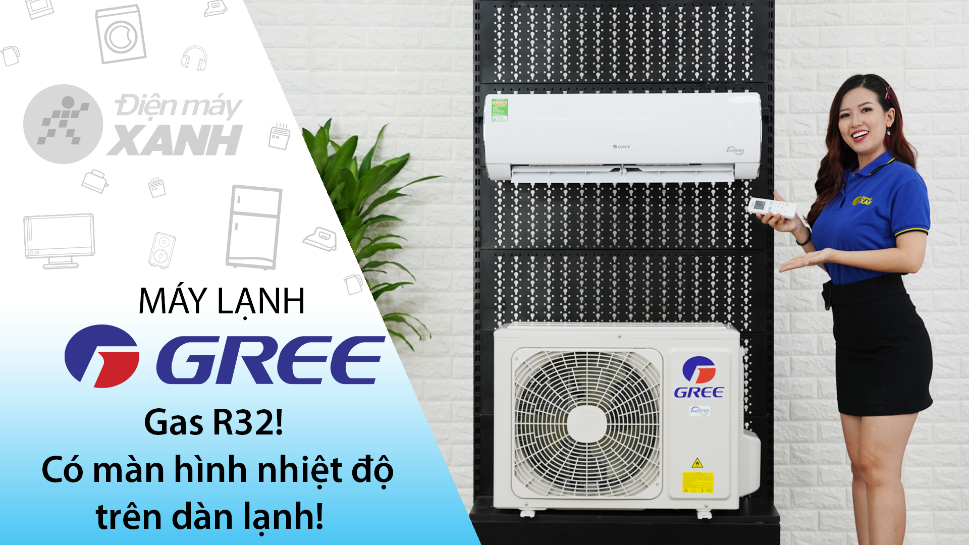 Máy lạnh Gree Inverter 1 HP GWC09FB-K6D9A1W