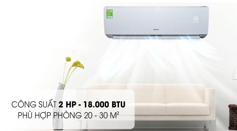 Công suất 2 HP ~ 18.000 BTU - Máy lạnh Gree 2 HP GWC18ID-K3N9B2G Mẫu 2019