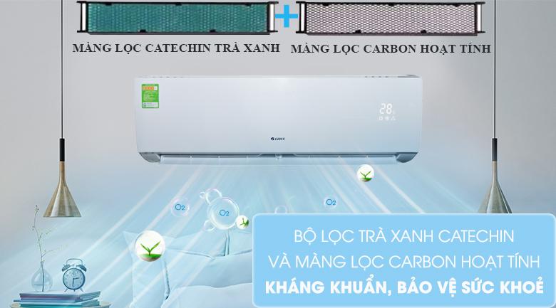 Bộ lọc trà xanh Catechin & Carbon hoạt tính - Máy lạnh Gree 2 HP GWC18ID-K3N9B2G Mẫu 2019