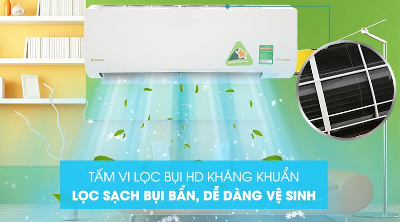 Tấm lọc vi bụi kháng khuẩn - Máy lạnh Daikin Inverter 2 HP FTKQ50SAVMV