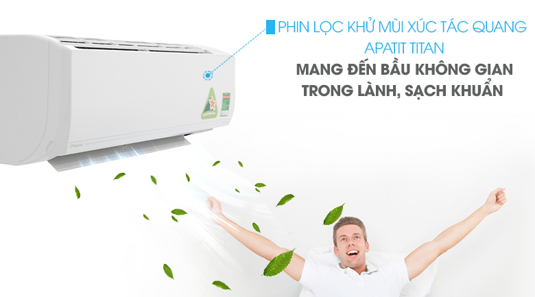 Phin lọc Apatit Titan - Máy lạnh Daikin Inverter 1.0 HP ATKC25UAVMV