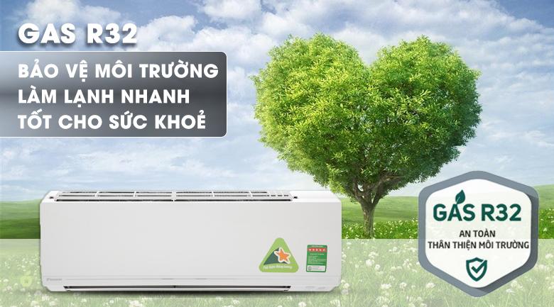 Gas R-32 - Máy lạnh Daikin Inverter 1.0 HP ATKC25UAVMV