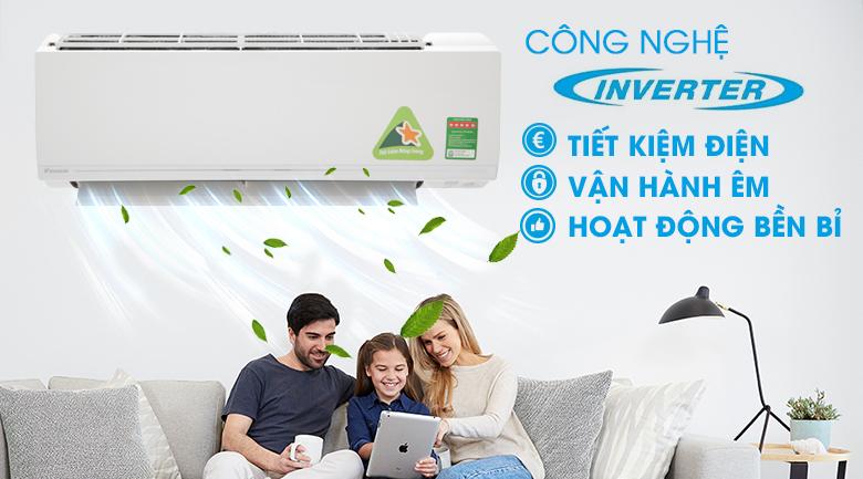Công nghệ Inverter - Máy lạnh Daikin Inverter 1.5 HP ATKC35UAVMV