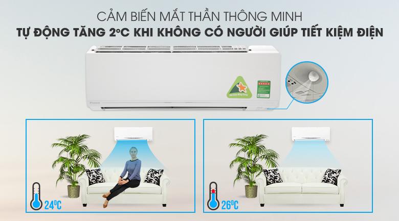 Mắt thần thông minh - Máy lạnh Daikin Inverter 1.5 HP ATKC35UAVMV