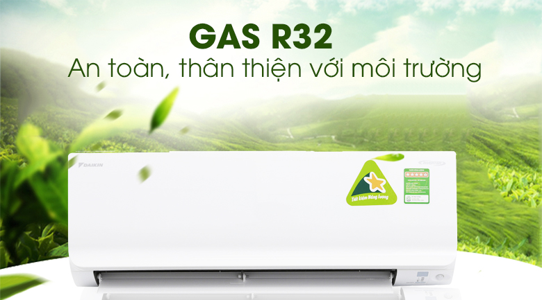 Gas R32 - Máy lạnh Daikin Inverter 1.5 HP ATKC35UAVMV